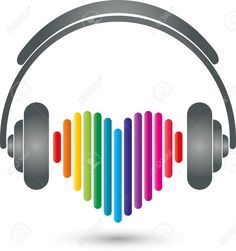 Headphones, Heart, Music Logo, Sound Royalty Free Cliparts ...