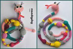 Amigururmi Snake / Nursing necklace / Breastfeeding necklace/crochet toy  -FREESHIPPING