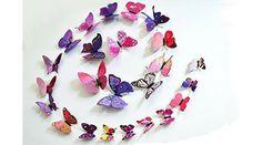 12 Pcs 3D Butterfly Wall Stickers Art Decor Decals (Purple) $1.32 - http://supersavingsman.com/12-pcs-3d-butterfly-wall-stickers-art-decor-decals-purple-1-32/