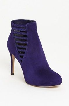 Via Spiga 'Bleu' Bootie Womens Purple Suede
