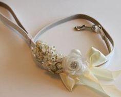 Ivory wedding, dog Leash, Wedding accessorry, High quality Leather, Ivory wedding accessory, Dog Leash - LA Dog Store  - 1