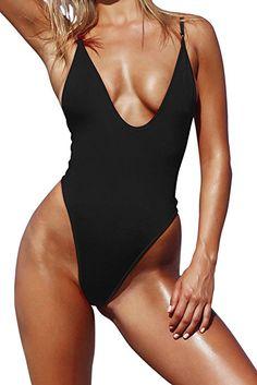 9f1f05dabacd6 Zero City Women's One Piece Swimsuits Monokini High Cut Bathing Suit Orange  L at Amazon Women's