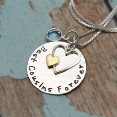 Best Cousins Forever Necklace, Cousins Gift, Cousins Necklace, Cousins Jewelry, Cousin Necklace, Hand Stamped Necklace, Cousin Necklace by TracyTayanDesigns on Etsy