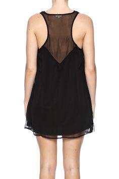 Blck Sequin Shift Dress - main