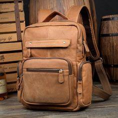 Handmade Leather Backpack, Classic Backpack, Travel Backpack MS086