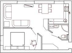 Дизайн интерьра квартиры 42 кв. м