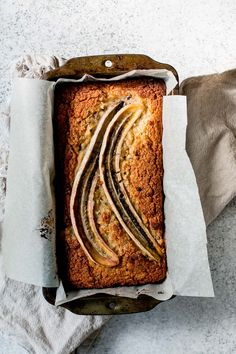 Healthier Banana, Passionfruit & Coconut Loaf / The Brick Kitchen