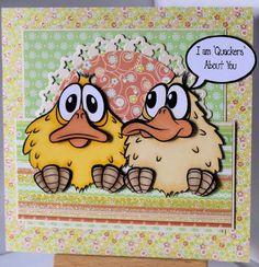 """Quackers"" digi stamp http://www.doctor-digi.com/quackers Card by Ruth H http://weirdcatcardsnstuff.blogspot.co.uk/"