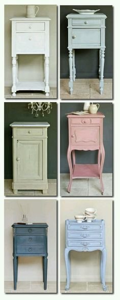 Painted sidetables
