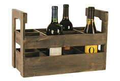 Wood Wine Carrier.