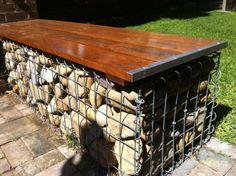 Gabion Seat, Low Cost gabions Cheaper than block stone gabion walls are easy to build http://www.gabion1.com.au