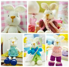 FREE KNITTING PATTERN: Bramble bunny and outfits from LGC Knitting & Crochet magazine