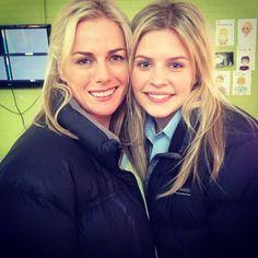 Puffa jacket twins! #neighbours #NeighboursInstagram #NeighboursBehindTheScenes