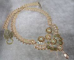 """Results of the contest """"A necklace for Madame Boucard - Tamara de Lempicka"""" - Blog collective creative activities pearl lace"""