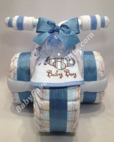 Tricycle Diaper Cake In Many Colors   Great Gift Or Centerpiece For Baby  Shower