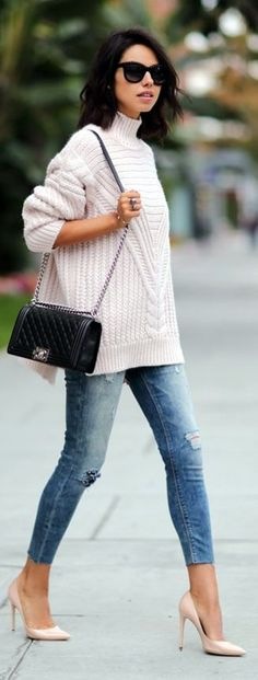 Cute oversized sweater outfit Ideas For 2015 (15) #sweatersoutfit