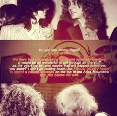 Robert Plant with a very moving quote about Jimmy & their friendship. This puts a lump in your throat just thinking about it....