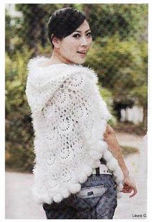 Knit And Wedding Bridal Accessories and Free pattern: Free crochet poncho wrap hood pattern