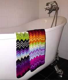 Loved my bathtub and Missoni towels