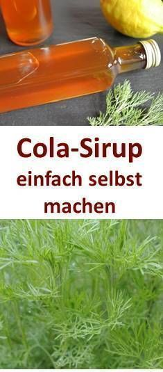 Cola-Sirup aus Colakraut - Eberraute - selbst machen. Mit und ohne Thermomix