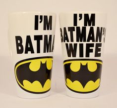 Wedding Gifts,Batman Mugs,bridle shower,personalized wedding gifts,wedding shower,bridle shower gifts,his and hers,custom mugs,couples gifts