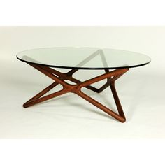Walnut Hexagram Coffee Table
