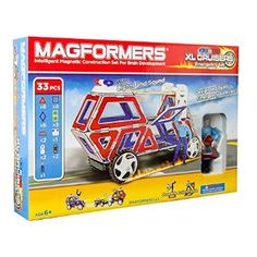(Football Games Online For Kids)Magformers XL Cruisers Emergency Set