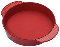 Roshco RBS02R Silicone 9Inch Round Cake Pan Red * Visit the affiliate link Amazon.com on image for more details.