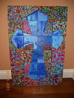 school auction class project ideas | class auction project | Whole School/Class Art Ideas/Auction Ideas  I like the idea of a large picture divided into individual sections that can later be put back together.