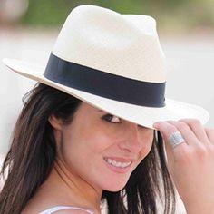 3b5984c011c Panama Hat Fedora White - Gamboa Classic for Women