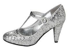 Gabriella Rocha Shelby2 Silver Glitter T-strap