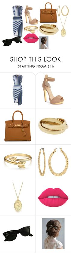 """Casual"" by itsjazzmen ❤ liked on Polyvore featuring Mason by Michelle Mason, Christian Louboutin, Hermès, Bling Jewelry, Fragments, Monica Rich Kosann, Lime Crime and Ray-Ban"