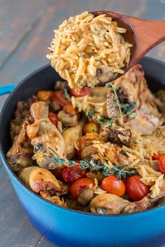 Baked Chicken and Orzo | http://maya-kitchenette.com/p=5033
