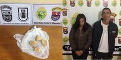 PM prende casal por tráfico de drogas - http://projac.com.br/policial/pm-prende-casal-por-trafico-de-drogas.html