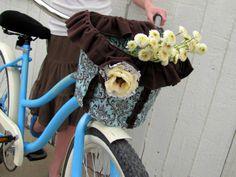 DIY Fabric Bike Basket