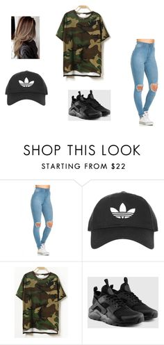 """""""at the mall"""" by jaevette ❤ liked on Polyvore featuring Topshop and NIKE"""