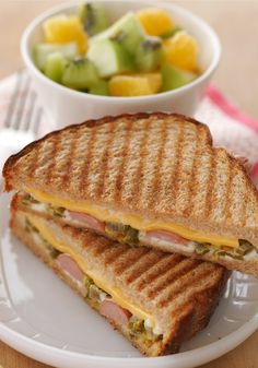 Hot Dog Panini – No panini maker? No problem. This kid-friendly lunch creation of hot dog and cheese sandwiches are grilled right in the skillet.