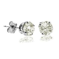 3/4 CT Diamond Stud Earrings 14k White Gold (I1-I2 Clarity, J-K Colour)  http://electmejewellery.com/jewelry/earrings/34-ct-diamond-stud-earrings-14k-white-gold-i1i2-clarity-jk-colour-couk/