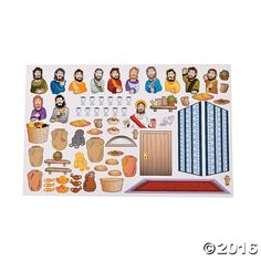 These Last Supper sticker scenes are a perfect Easter activity for kids. They…