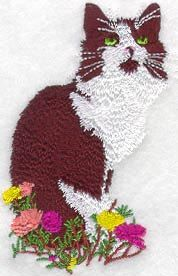 Black & White Cat Embroidered Terry by forgetmeknottreasure.etsy.com