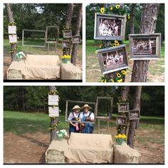 For the future party idea. White Trash Wedding, White Trash Party, Redneck Games, Redneck Party, Backyard Parties, Barn Parties, Rustic Photo Booth, Hillbilly Party, Hee Haw