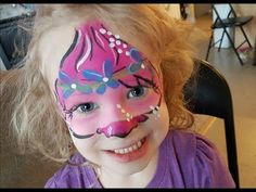 (2) Trolls Face Paint - Poppy Tutorial - YouTube