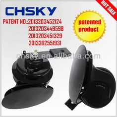 New development patented product super waterproof two touch points snail car horn DL-1202W