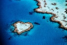 Whitsunday Island, Australia. heart shaped reef near the Great Barrier Reef :)