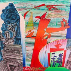 """EMANUELE DILIBERTO (Palermo 1942) OLIO su tela """"profumi e barocchi"""" firmato sul retro."""