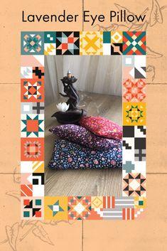Floral printed lavender eye pillow. #esty #yoga #meditation Lavender Pillow, Lavender Seeds, Esty, Yoga Meditation, Floral Prints, Quilts, Blanket, Pillows, Printed
