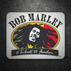 Pegatinas: Bob Marley Freedom #skate #surf #pegatina #sticker