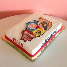 Illinois Sports Fan Cake. Cake by 2tarts Bakery / New Braunfels, Texas / www.2tarts.com