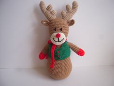 A personal favorite from my Etsy shop https://www.etsy.com/listing/245074286/crocheted-stuffed-amigurumi-reindeer