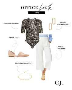 5 office looks for spring Best Workwear, White Trousers, Office Attire, Office Looks, White Flats, Blazer Dress, Spring Looks, Casual Summer Outfits, Vintage Tees